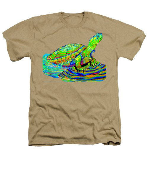 Painted Turtle Heathers T-Shirt by Rebecca Wang