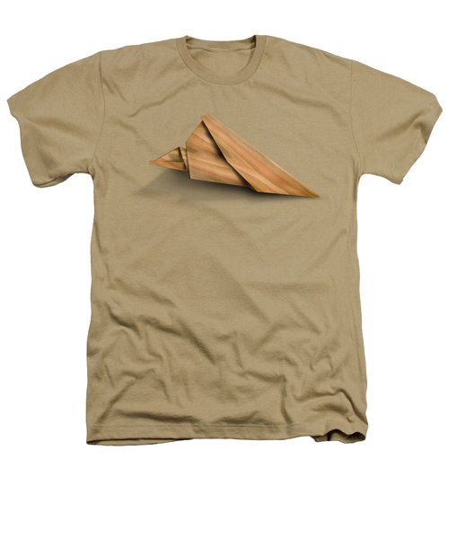 Paper Airplanes Of Wood 2 Heathers T-Shirt by Yo Pedro