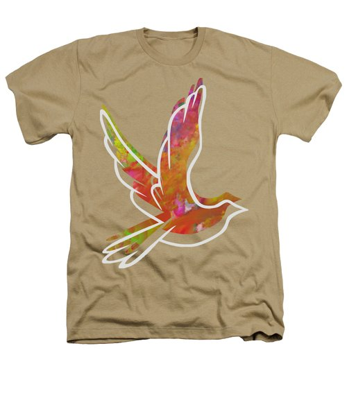 Part Of Peace Dove Heathers T-Shirt by Priscilla Wolfe