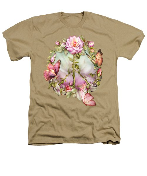 Peace Rose Heathers T-Shirt by Carol Cavalaris