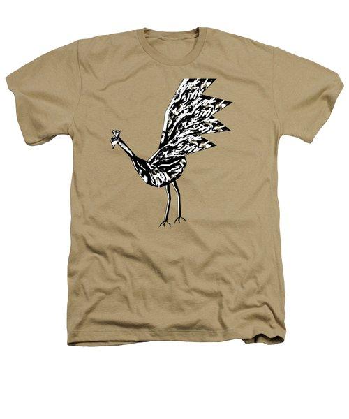 Peacock Dance B Heathers T-Shirt by Thecla Correya