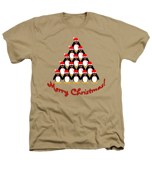 Penguin Christmas Tree Heathers T-Shirt by Methune Hively