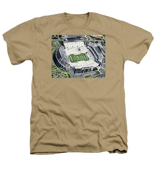 Penn State Beaver Stadium Whiteout Game University Psu Nittany Lions Joe Paterno Heathers T-Shirt by Laura Row