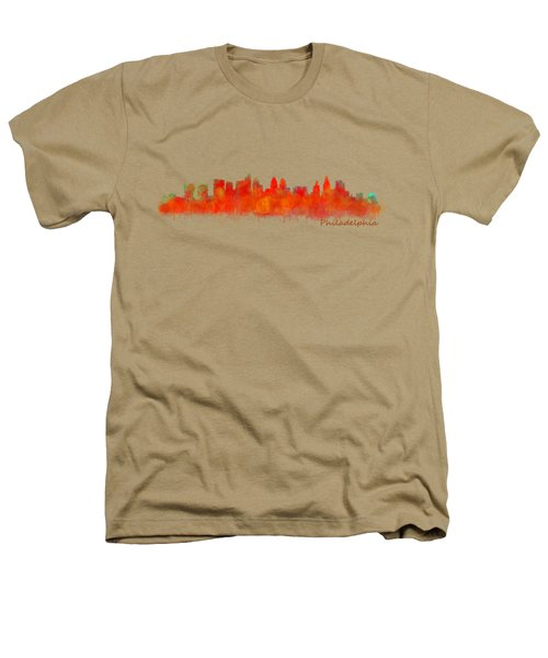Philadelphia City Skyline Hq V2 Heathers T-Shirt by HQ Photo