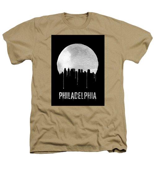 Philadelphia Skyline Black Heathers T-Shirt by Naxart Studio