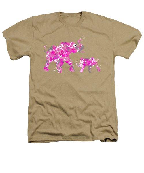 Pink Elephants Heathers T-Shirt by Christina Rollo