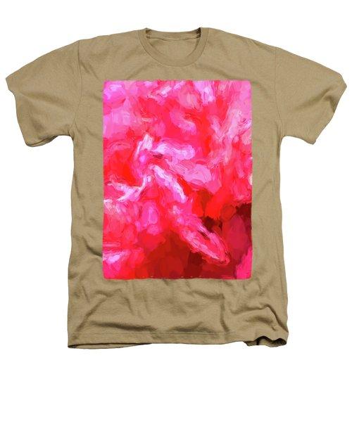 Pink Petals Heathers T-Shirt by Jackie VanO