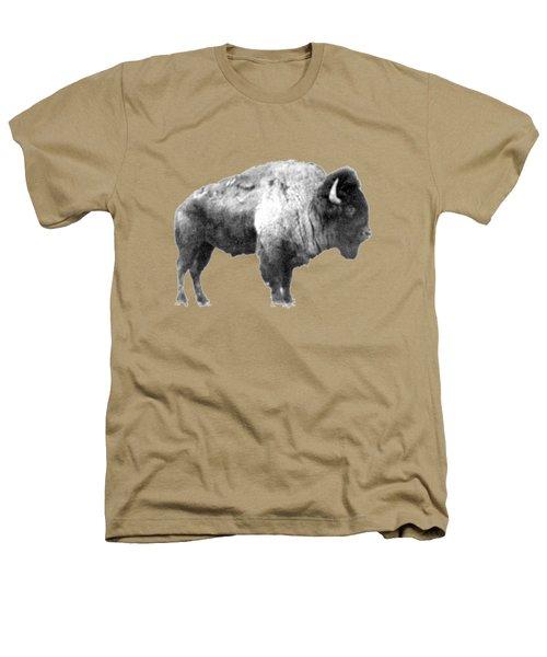 Plains Bison Heathers T-Shirt by Jim Sauchyn
