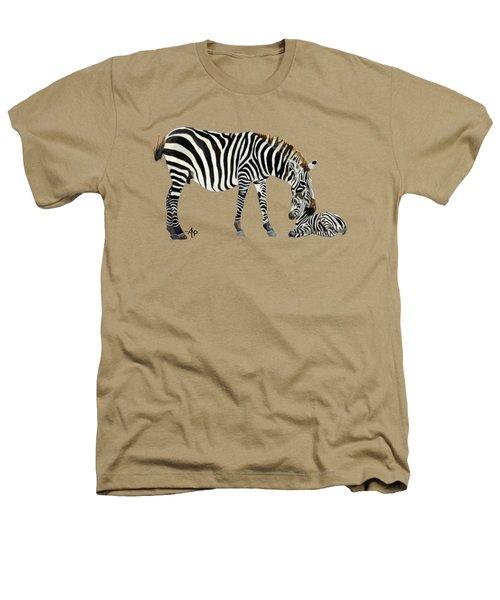 Plains Zebras Heathers T-Shirt by Angeles M Pomata