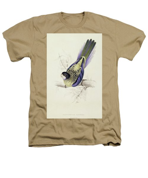 Platycercus Brownii, Or Browns Parakeet Heathers T-Shirt by Edward Lear