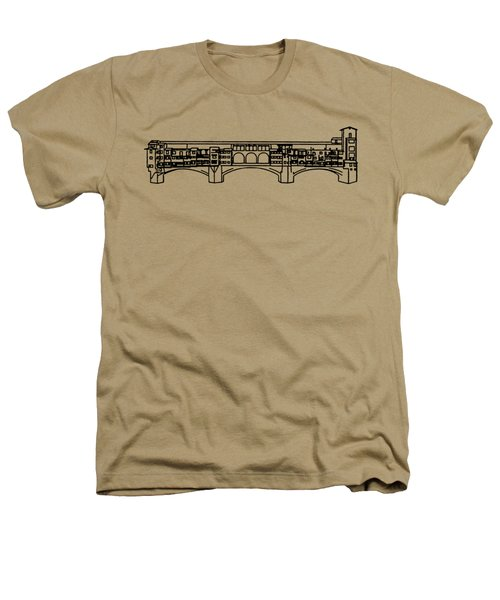 Ponte Vecchio Florence Tee Heathers T-Shirt by Edward Fielding