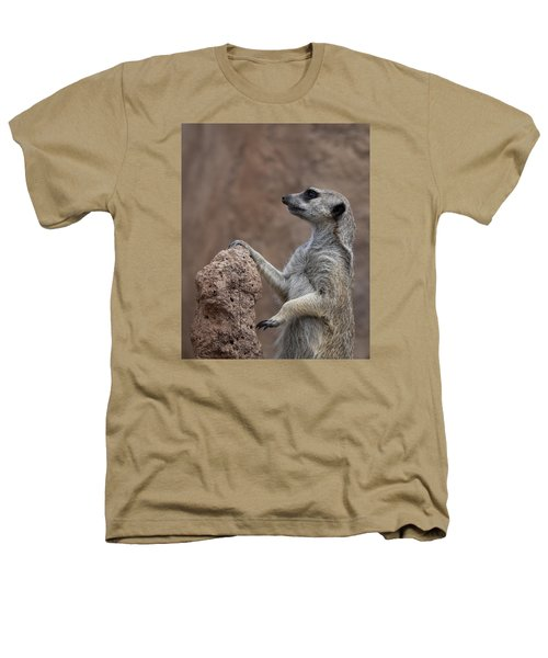 Pose Of The Meerkat Heathers T-Shirt by Ernie Echols