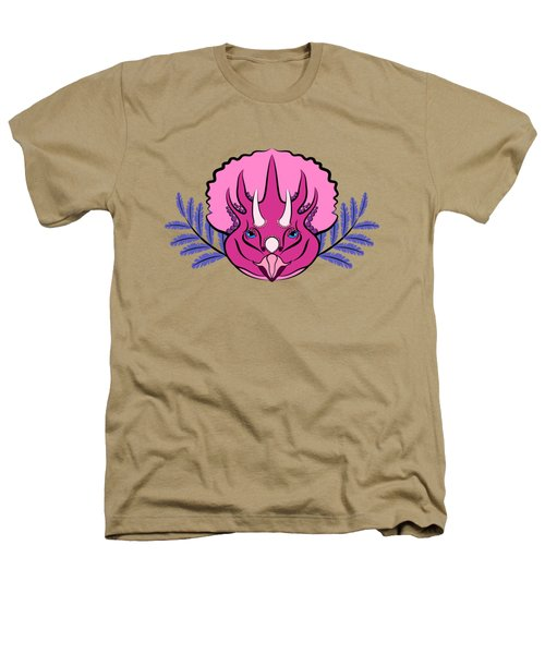 Pretty Pink Triceratops Heathers T-Shirt by MM Anderson