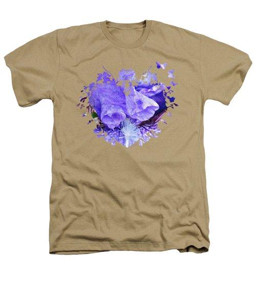 Pretty Purple Heathers T-Shirt by Anita Faye
