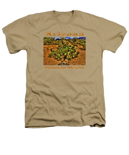 Prickly Pear In Bloom With Brittlebush And Cholla For Company Heathers T-Shirt by Roger Passman
