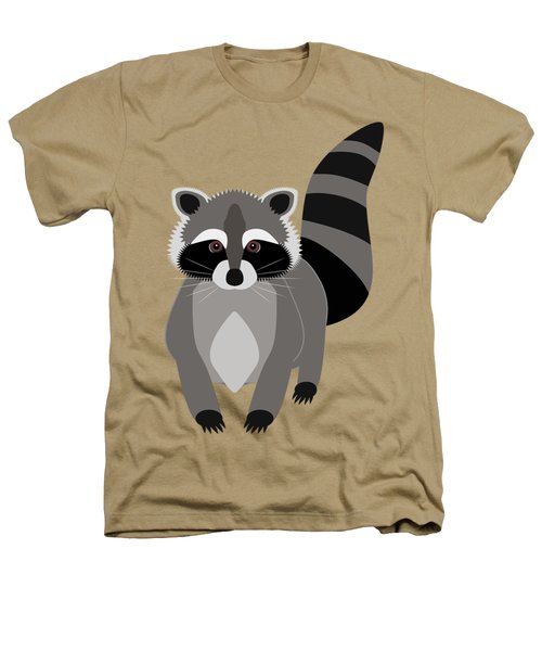 Raccoon Mischief Heathers T-Shirt by Antique Images