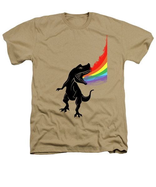 Rainbow Dinosaur Heathers T-Shirt by Mark Ashkenazi