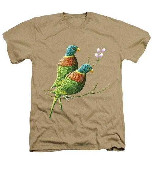 Rainbow Lorikeet Of Australia B Heathers T-Shirt by Thecla Correya