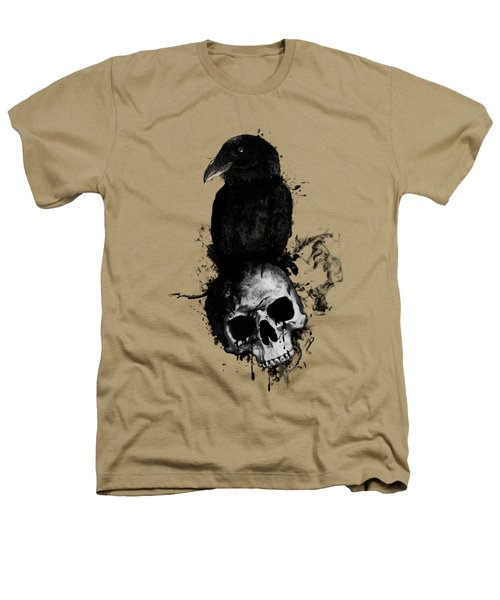 Raven And Skull Heathers T-Shirt by Nicklas Gustafsson