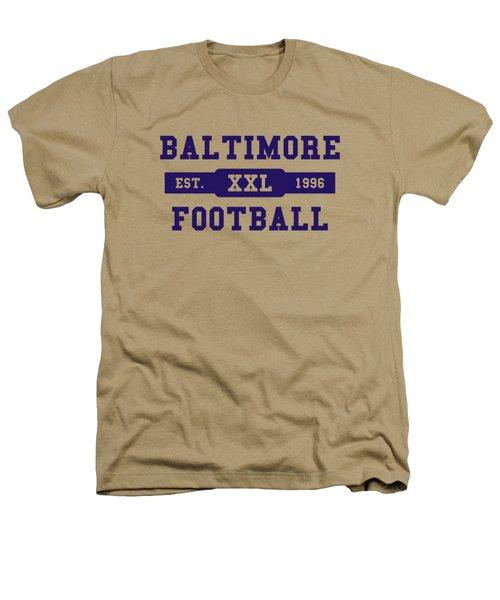 Ravens Retro Shirt Heathers T-Shirt by Joe Hamilton