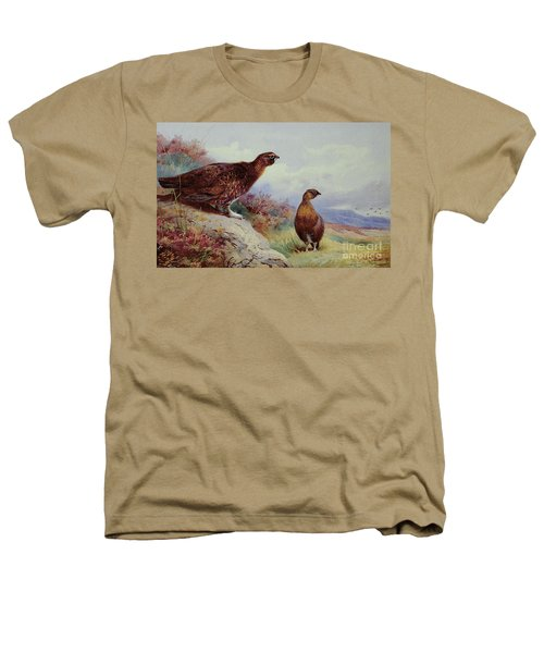 Red Grouse On The Moor, 1917 Heathers T-Shirt by Archibald Thorburn