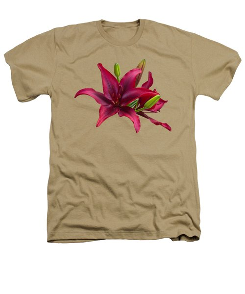 Red Lilies Heathers T-Shirt by Jane McIlroy