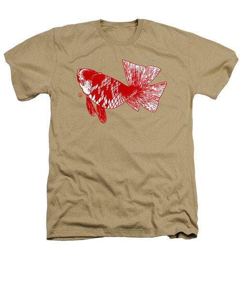 Red Ranchu Heathers T-Shirt by Shih Chang Yang
