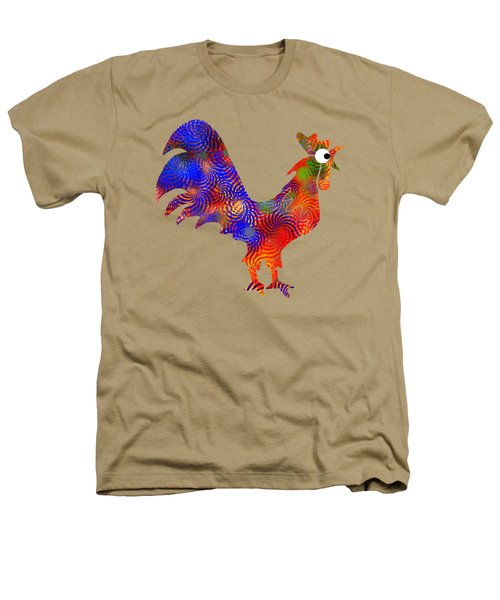 Red Rooster Art Heathers T-Shirt by Christina Rollo