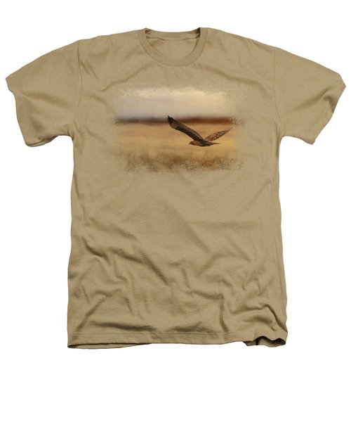 Redtail In The Field Heathers T-Shirt by Jai Johnson