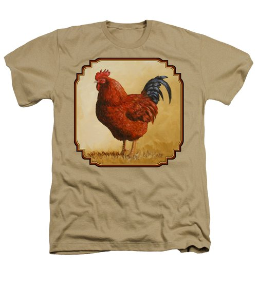 Rhode Island Red Rooster Heathers T-Shirt by Crista Forest