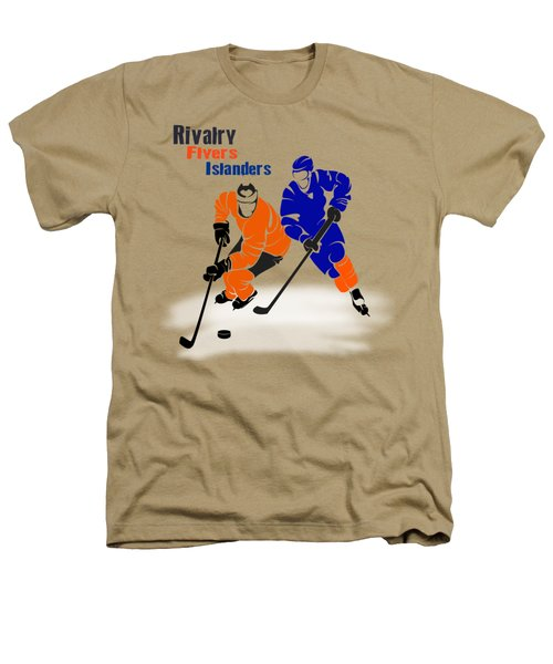 Rivalry Flyers Islanders Shirt Heathers T-Shirt by Joe Hamilton