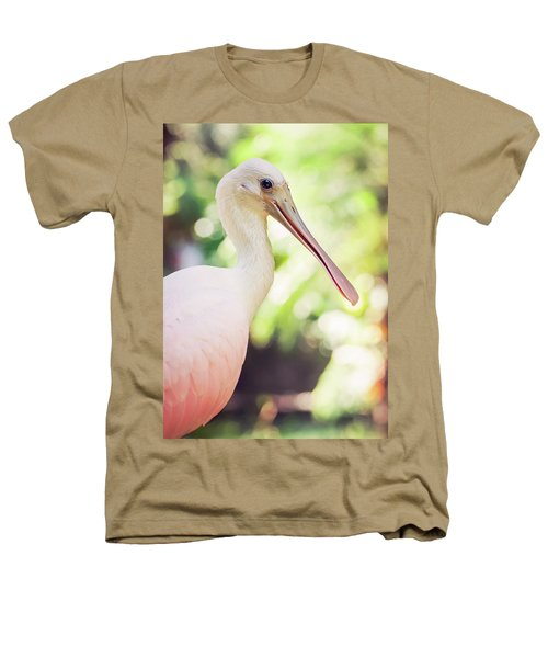 Roseate Spoonbill Heathers T-Shirt by Heather Applegate