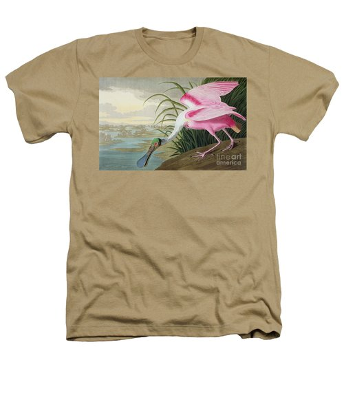 Roseate Spoonbill Heathers T-Shirt by John James Audubon