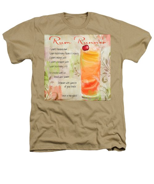 Rum Runner Mixed Cocktail Recipe Sign Heathers T-Shirt by Mindy Sommers