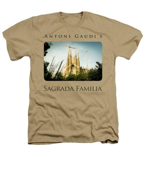 Sagrada Familia With Catalonia's Flag Heathers T-Shirt by Alejandro Ascanio