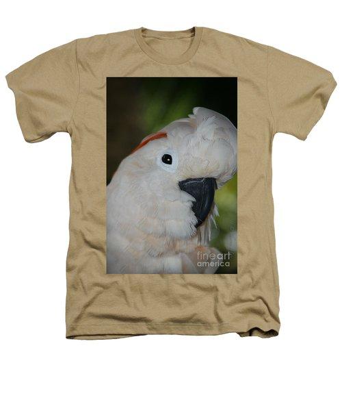 Salmon Crested Cockatoo Heathers T-Shirt by Sharon Mau