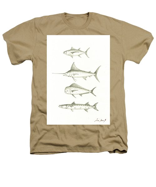 Saltwater Gamefishes Heathers T-Shirt by Juan Bosco