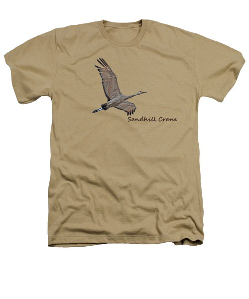 Sandhill Crane In Flight Heathers T-Shirt by Whispering Peaks Photography