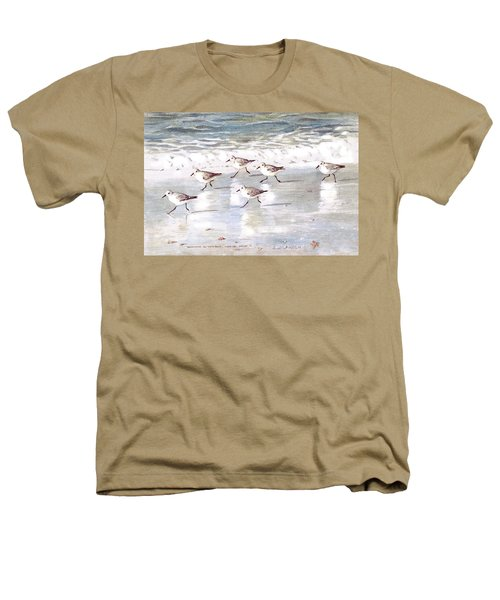 Sandpipers On Siesta Key Heathers T-Shirt by Shawn McLoughlin