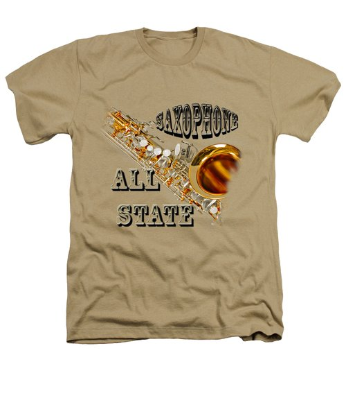 Saxophone All State Heathers T-Shirt by M K  Miller