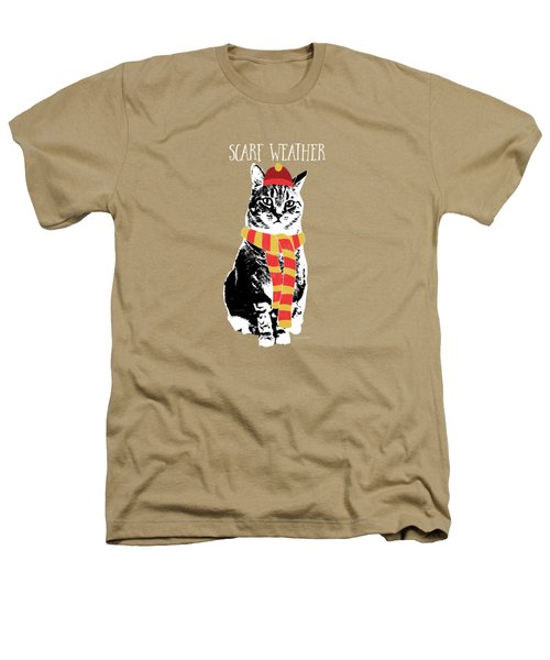 Scarf Weather Cat- Art By Linda Woods Heathers T-Shirt by Linda Woods
