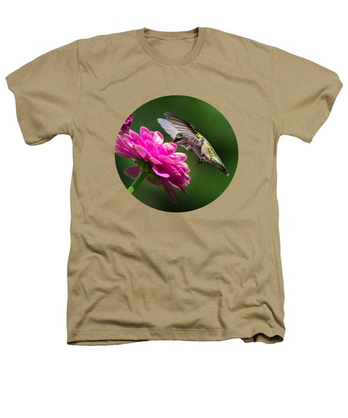 Simple Pleasure Hummingbird Delight Heathers T-Shirt by Christina Rollo