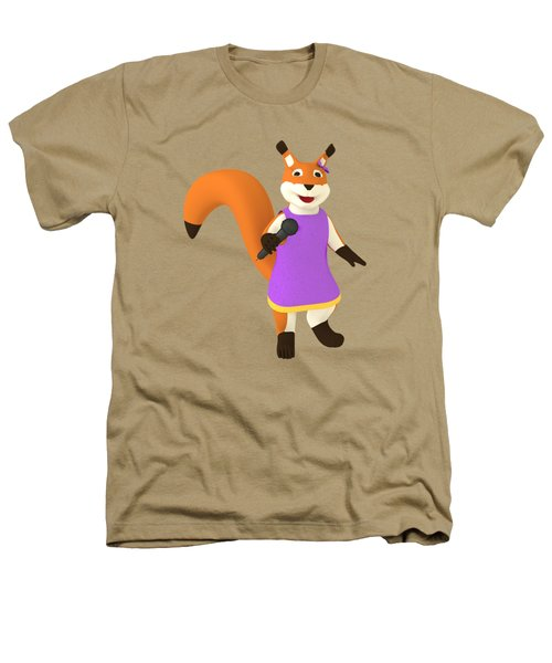 Singing Squirrel Heathers T-Shirt by Yulia Litvinova