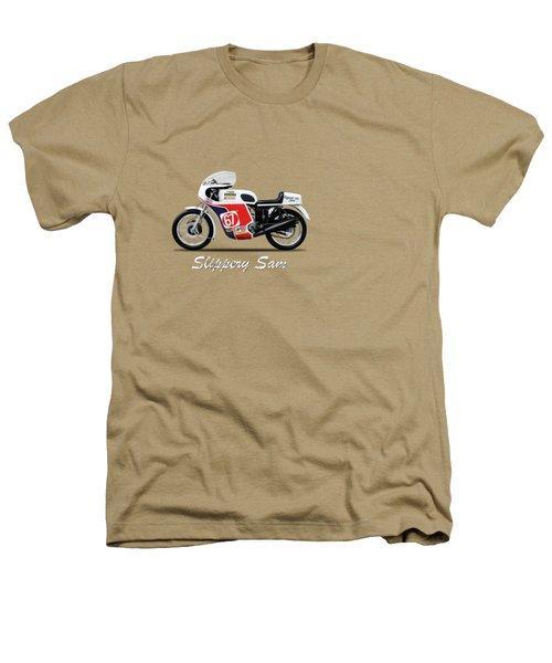 Slippery Sam Production Racer Heathers T-Shirt by Mark Rogan