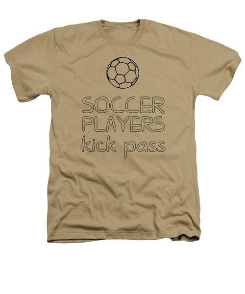Soccer Players Kick Pass Poster Heathers T-Shirt by Liesl Marelli