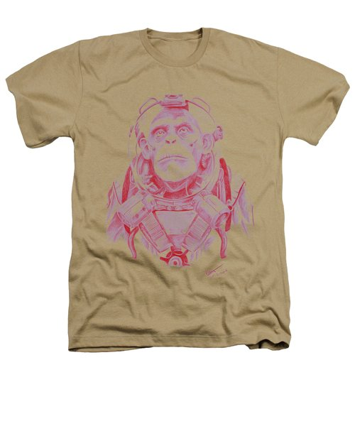 Space Chimp Heathers T-Shirt by Kenny Noorlander