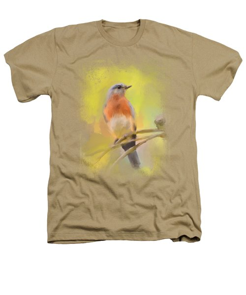 Spring Bluebird Painting Heathers T-Shirt by Jai Johnson