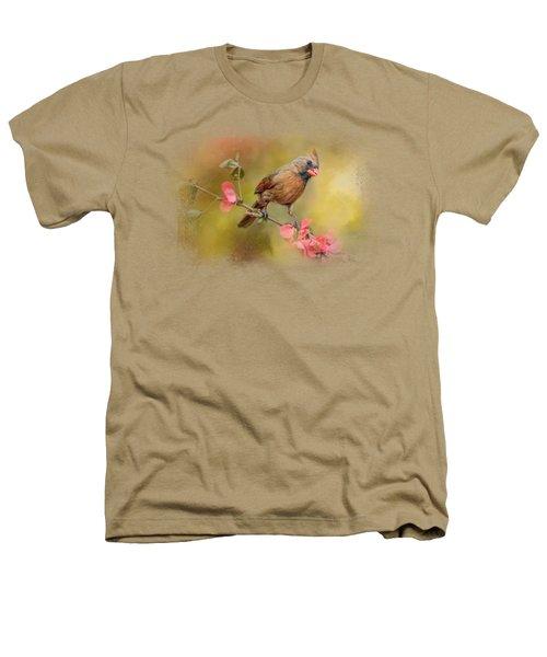 Spring Cardinal 1 Heathers T-Shirt by Jai Johnson