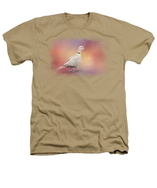 Spring Eurasian Collared Dove Heathers T-Shirt by Jai Johnson