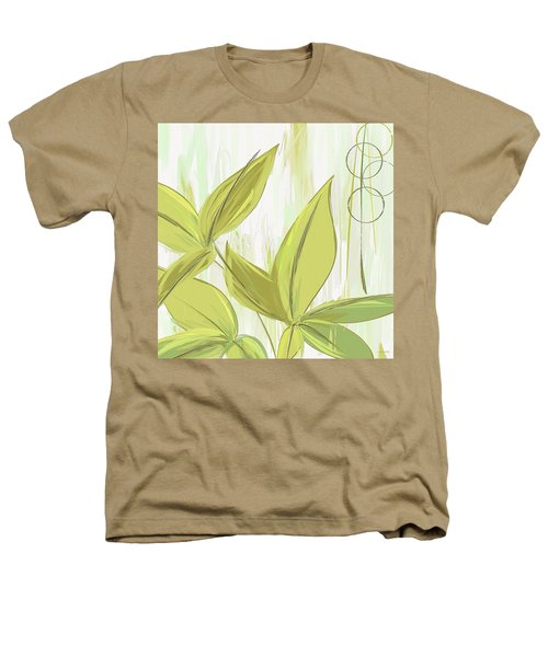 Spring Shades - Muted Green Art Heathers T-Shirt by Lourry Legarde